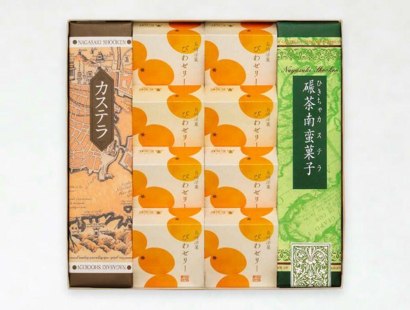 びわゼリー(8個)・カステラ・抹茶カステラ 詰合せ