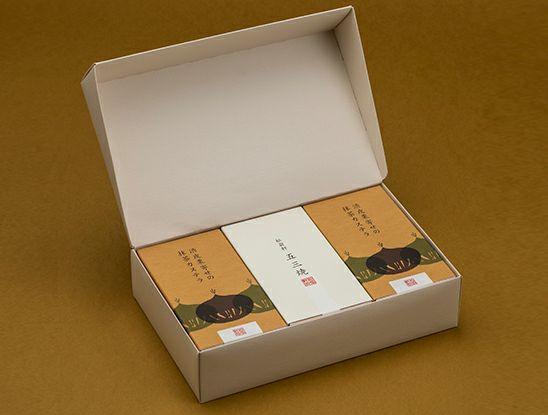 五三焼カステラ1・渋皮栗寄せの抹茶カステラ2 (半棹3本入)